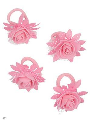Резинка(4шт) Bizon. Цвет: розовый