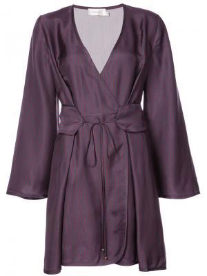 Платье с запахом спереди Zimmermann. Цвет: синий
