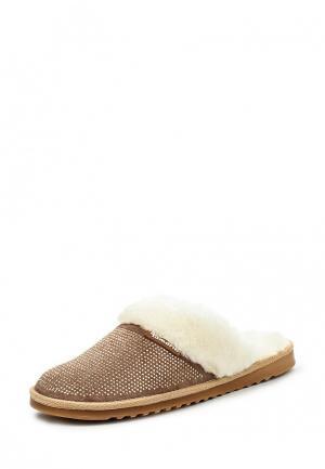 Тапочки Tamaris. Цвет: коричневый