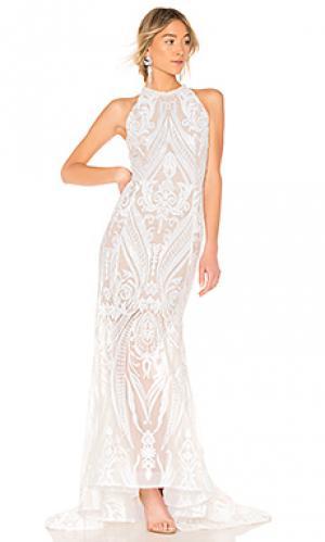Вечернее платье ester Bronx and Banco. Цвет: белый