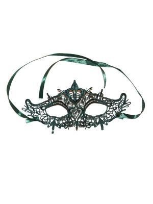 Карнавальная маска Lola. Цвет: зеленый