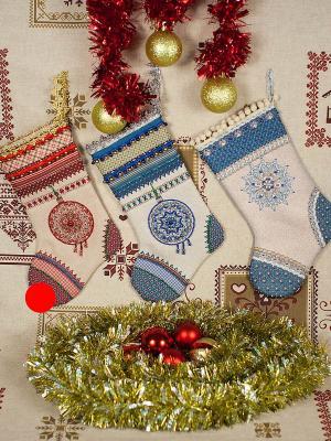Набор для шитья и вышивания носочек Сочельник Матренин Посад. Цвет: бежевый, красный