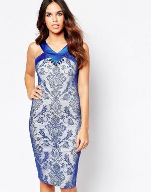 Hybrid Платье с отделкой у горловины Tally. Цвет: синий