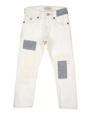 Джинсовые брюки SCOTCH & SHRUNK. Цвет: слоновая кость