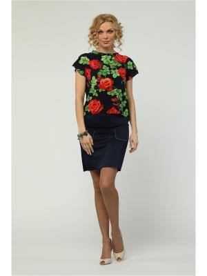 Блузка KATA BINSKA. Цвет: темно-синий, красный