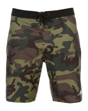 Пляжные брюки и шорты STUSSY. Цвет: зеленый-милитари