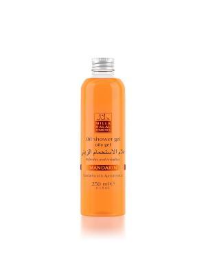 Масляный гель для душа с маслом мандарина и экстрактом абрикоса MANDARIN MILLA HALAL COSMETICS. Цвет: оранжевый