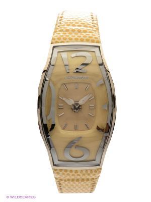 Часы Chronotech. Цвет: светло-желтый, серебристый