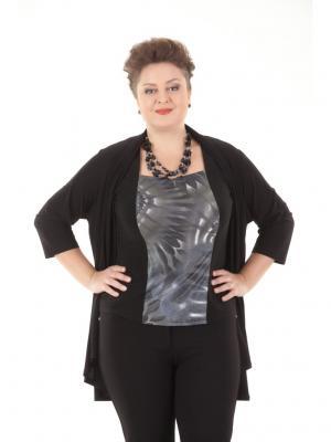 Блузка LUDMILA. Цвет: серый