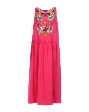Длинное платье MANISH ARORA. Цвет: фуксия