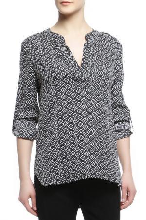 Блуза DIANE VON FURSTENBERG. Цвет: черно-белый