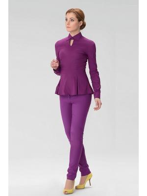 Женская блузка с вырезом спереди INDIGIRA. Цвет: фиолетовый