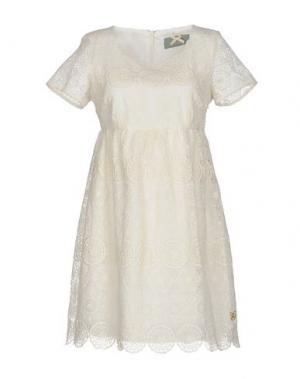 Короткое платье ATELIER FIXDESIGN. Цвет: слоновая кость