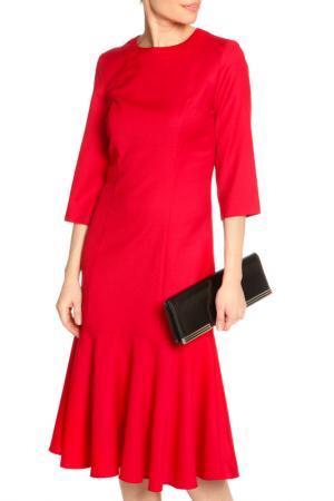Платье миди-годе NATALIA PICARIELLO. Цвет: красный