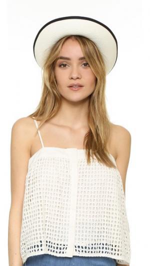 Шляпа Clasico с лентой Artesano. Цвет: белый