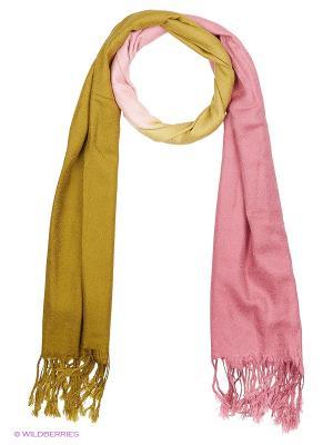 Платок Vittorio Richi. Цвет: горчичный, розовый