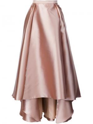 Длинная пышная юбка Badgley Mischka. Цвет: телесный