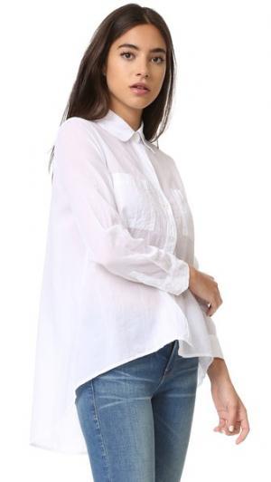Рубашка Hi Lo Enza Costa. Цвет: белый