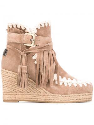 Ботинки на танкетке Eskimo Mou. Цвет: телесный