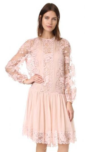 Кружевное платье Karmic Zimmermann. Цвет: лилия