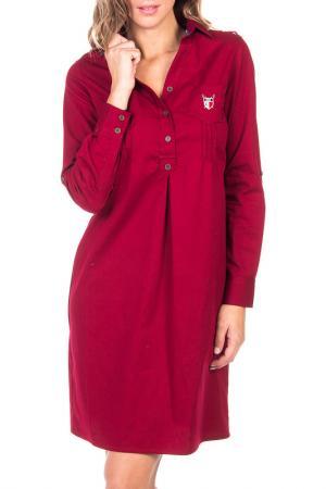 Платье Polo Club Original. Цвет: красный