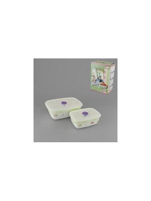 Набор емкостей для приготовления и хранения продуктов ЗЕЛЕНЫЙ ГОРИЗОНТ GUMERTAL. Цвет: белый