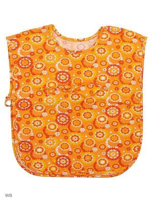 Накидка пляжная Три ползунка. Цвет: оранжевый