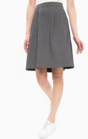 Темно-синяя юбка в горошек MORE &. Цвет: синий