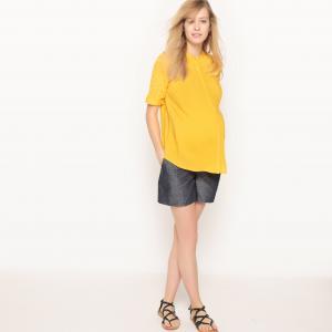 Рубашка прямая для периода беременности R essentiel. Цвет: желтый,слоновая кость