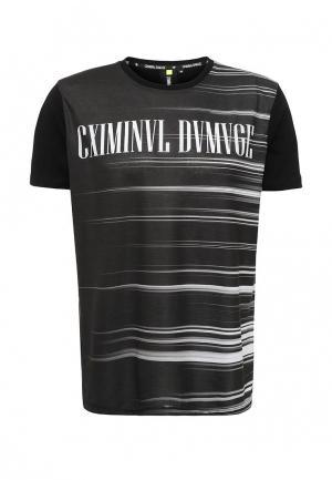 Футболка Criminal Damage. Цвет: черно-белый