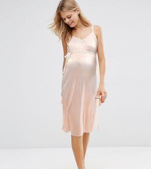 ASOS Maternity Платье для беременных на тонких бретельках. Цвет: медный