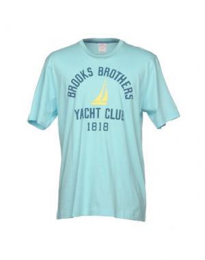 Футболка BROOKS BROTHERS. Цвет: небесно-голубой