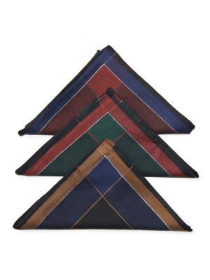 Носовой платок, 3 шт Lola. Цвет: синий, бордовый, зеленый