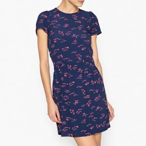 Платье с рисунком WAX KOKO SESSUN. Цвет: наб. рисунок синий