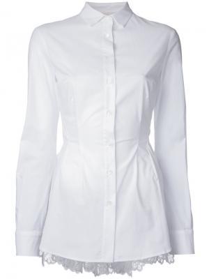 Рубашка с расклешенной деталью Antonio Berardi. Цвет: белый