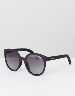 Quay Australia Черные круглые солнцезащитные очки High Tea. Цвет: черный