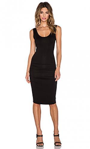 Платье frankie LA Made. Цвет: черный