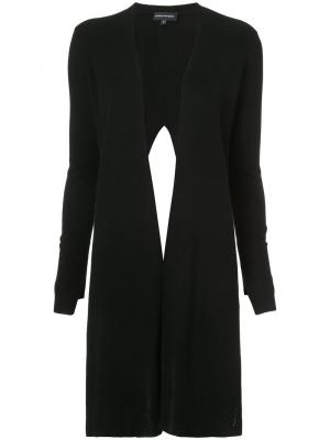 Draped knitted top Narciso Rodriguez. Цвет: чёрный