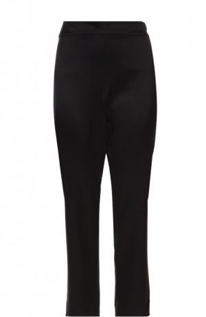 Укороченные брюки прямого кроя с завышенной талией St. John. Цвет: черный