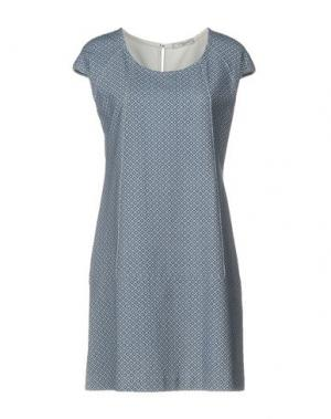 Короткое платье CIRCOLO 1901. Цвет: грифельно-синий