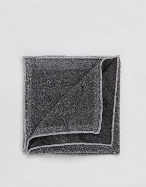 ASOS Серебристый блестящий платок для нагрудного кармана Wedding. Цвет: серебряный