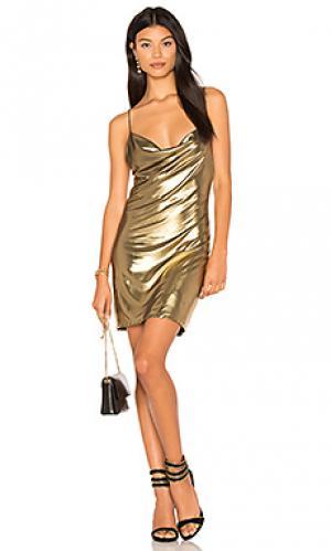 Платье-комбинация willa h:ours. Цвет: металлический золотой