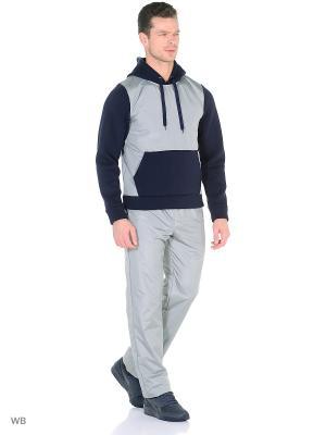Спортивный костюм (утепленный) FORLIFE. Цвет: темно-синий, серый