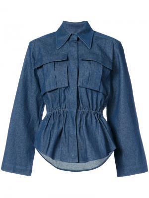 Джинсовая рубашка Gala Solace. Цвет: синий