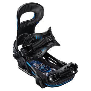Крепления для сноуборда  Transfer Bind Black Bent Metal. Цвет: черный,синий