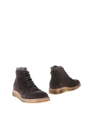 Полусапоги и высокие ботинки MOS. Цвет: темно-коричневый