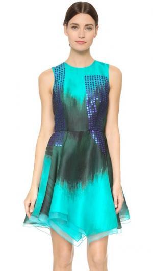 Платье без рукавов с округлым вырезом J. Mendel. Цвет: черный/нефритовый
