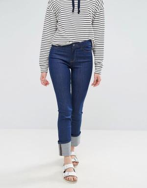 Waven Прямые джинсы с отворотами Mari. Цвет: синий