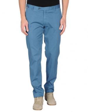 Повседневные брюки SARTORIA LATORRE. Цвет: пастельно-синий