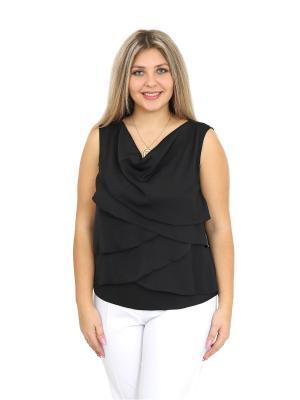 Блузка BALSAKO. Цвет: черный